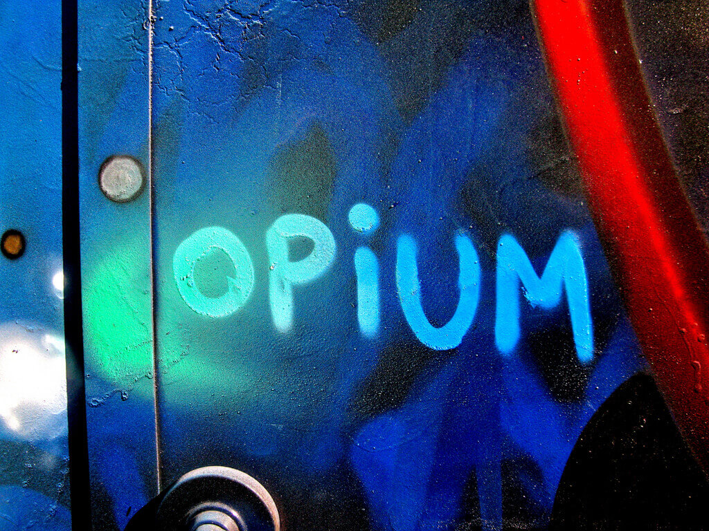 Opium Written on Wall