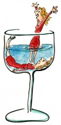 Woman in Glass Illustration